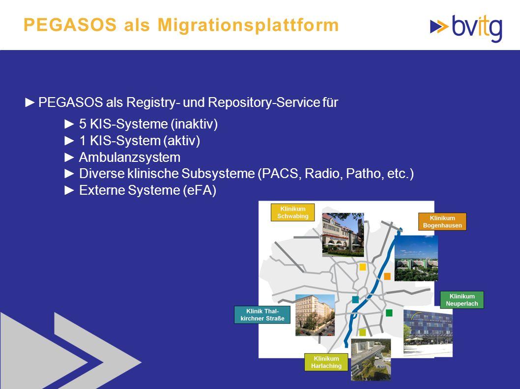 PEGASOS als Migrationsplattform