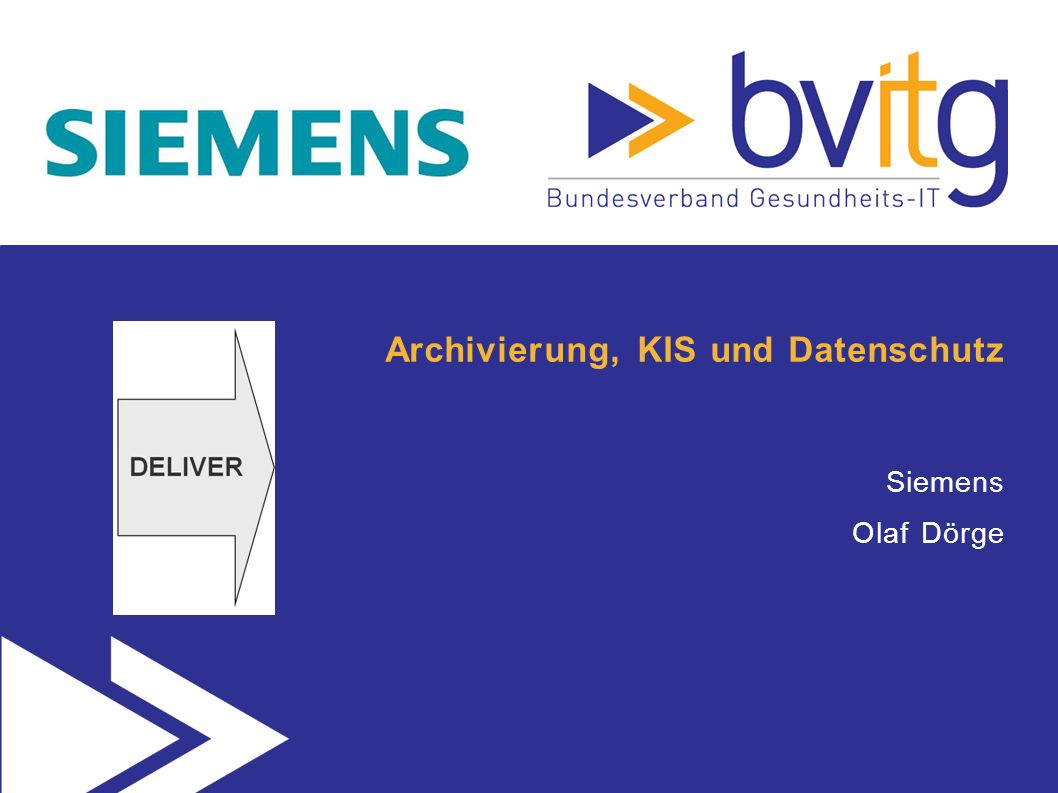 Archivierung, KIS und Datenschutz