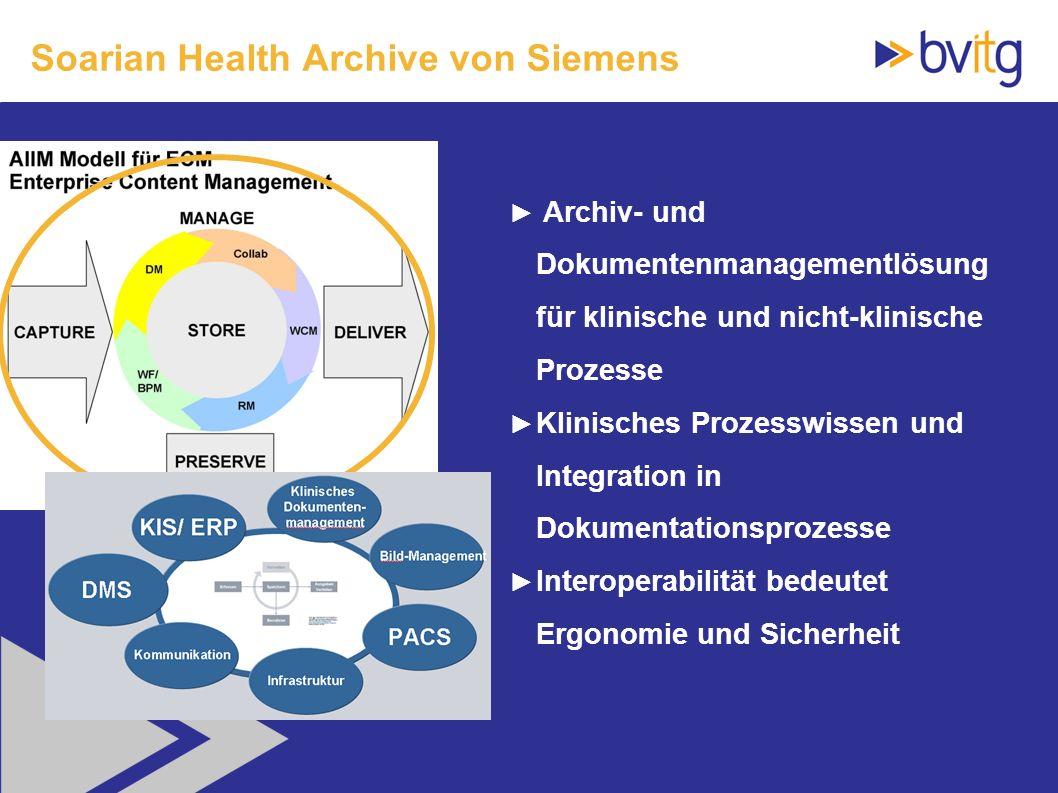 Soarian Health Archive von Siemens