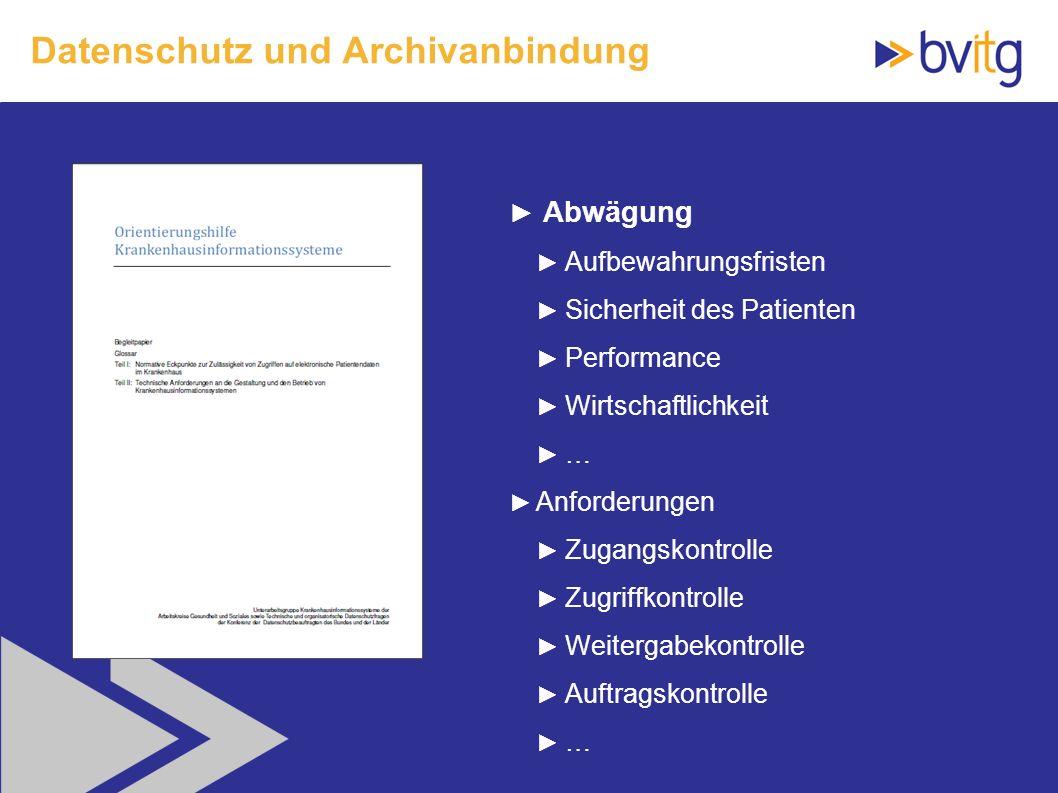 Datenschutz und Archivanbindung