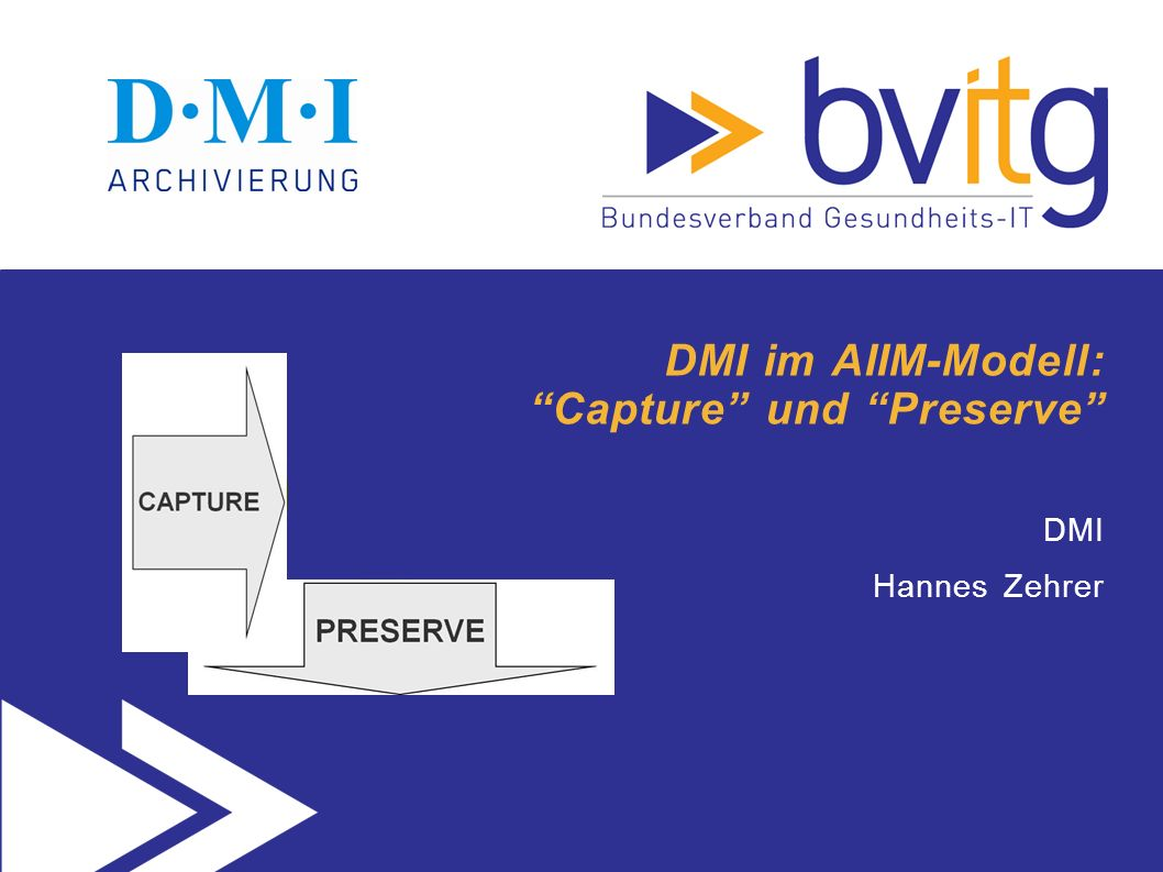 DMI im AIIM-Modell: Capture und Preserve