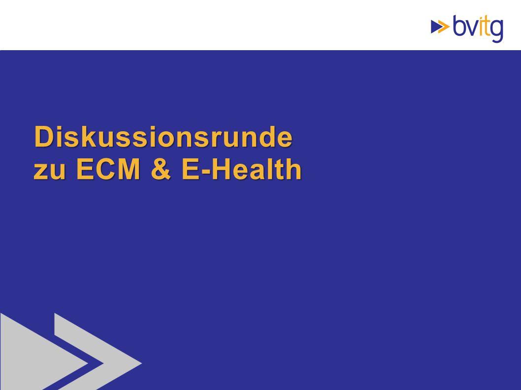 Diskussionsrunde zu ECM & E-Health