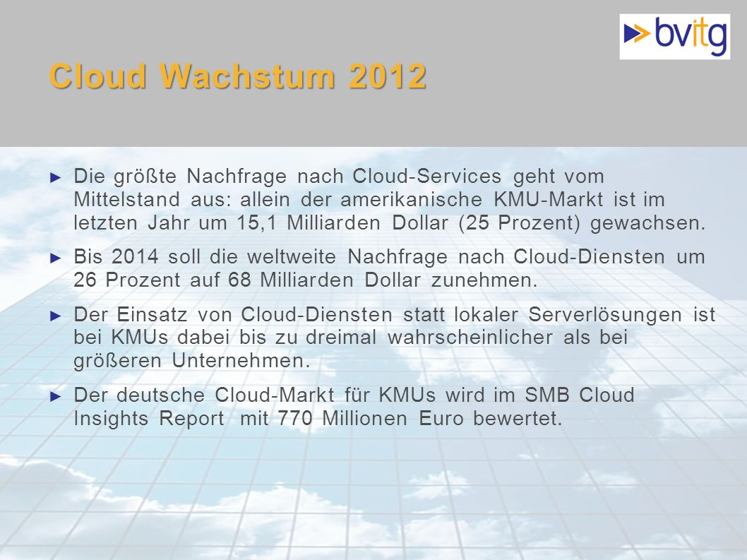 Cloud Wachstum 2012