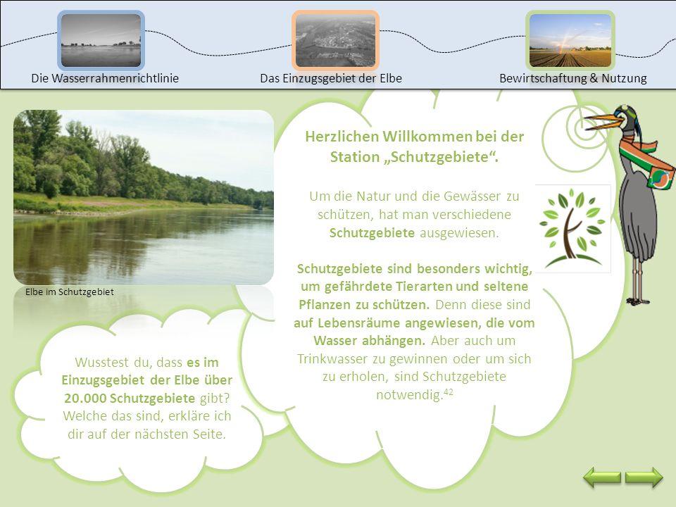"""Herzlichen Willkommen bei der Station """"Schutzgebiete ."""