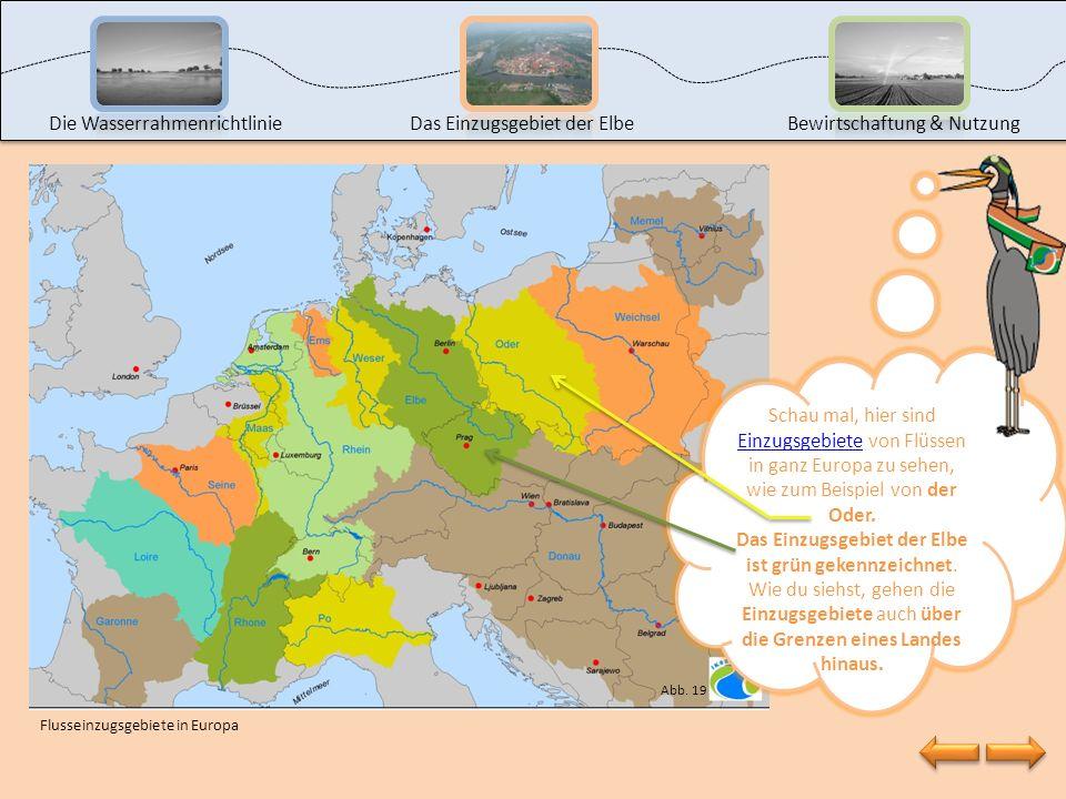 Das Einzugsgebiet der Elbe ist grün gekennzeichnet.