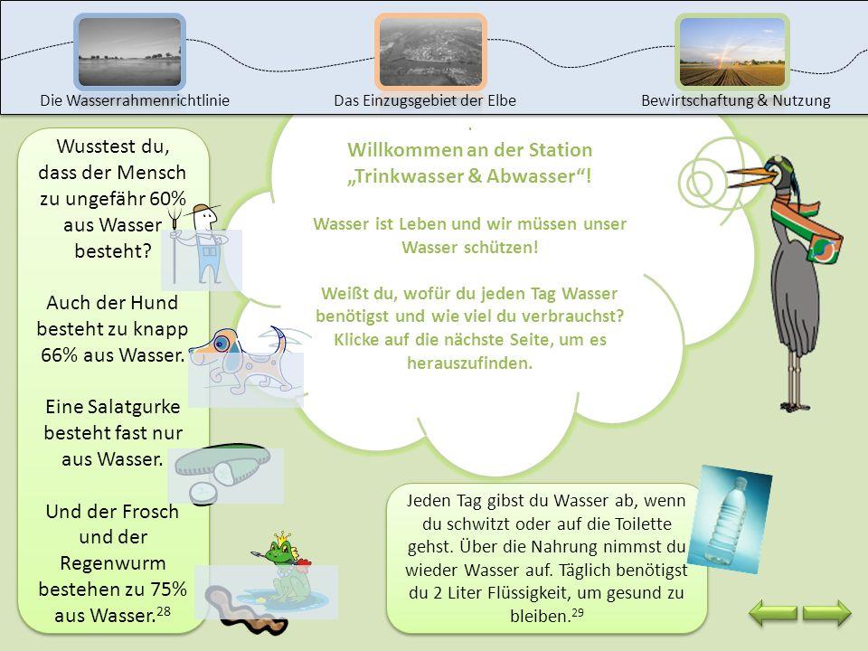 """Willkommen an der Station """"Trinkwasser & Abwasser !"""