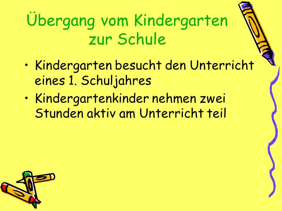 Übergang vom Kindergarten zur Schule
