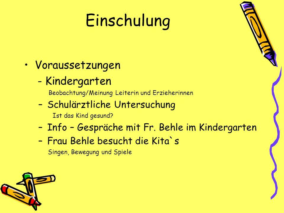 Einschulung Voraussetzungen - Kindergarten Schulärztliche Untersuchung