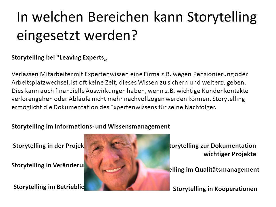 In welchen Bereichen kann Storytelling eingesetzt werden