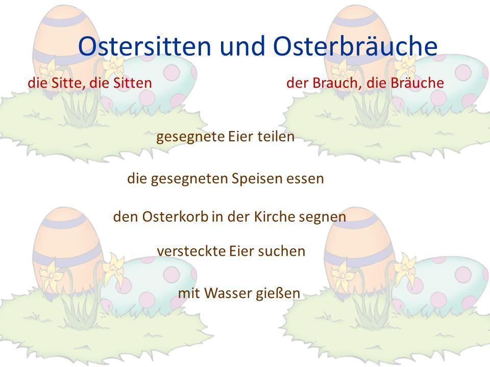Ostersitten und Osterbräuche