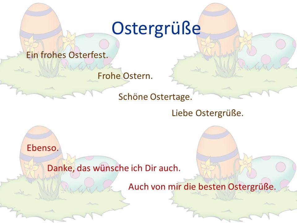 Ostergrüße Ein frohes Osterfest. Frohe Ostern. Schöne Ostertage.