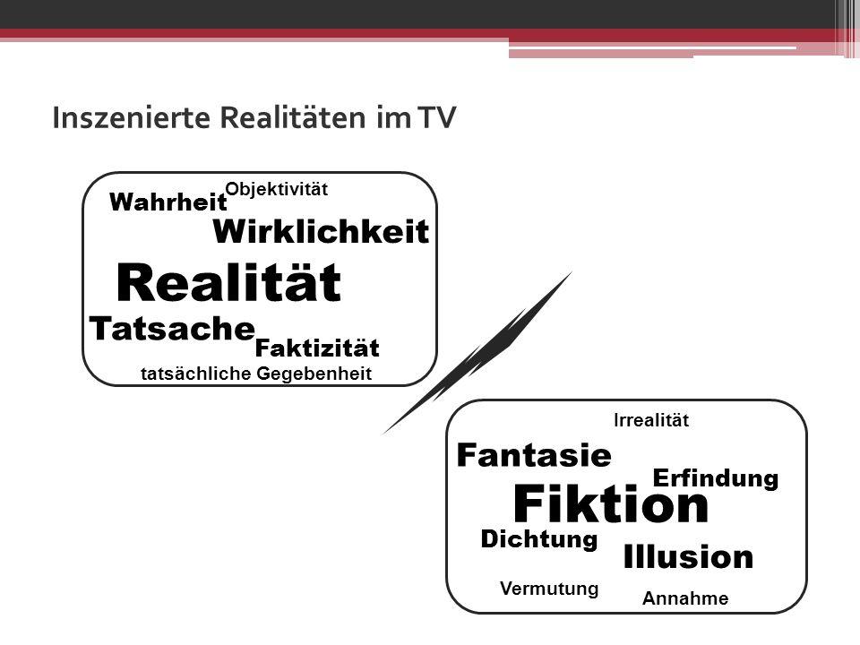 Inszenierte Realitäten im TV