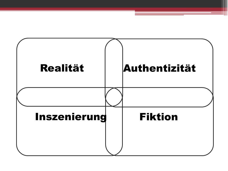 Realität Authentizität Inszenierung Fiktion