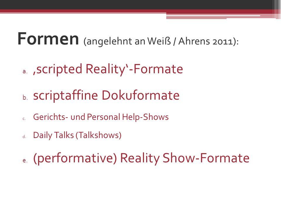 Formen (angelehnt an Weiß / Ahrens 2011):