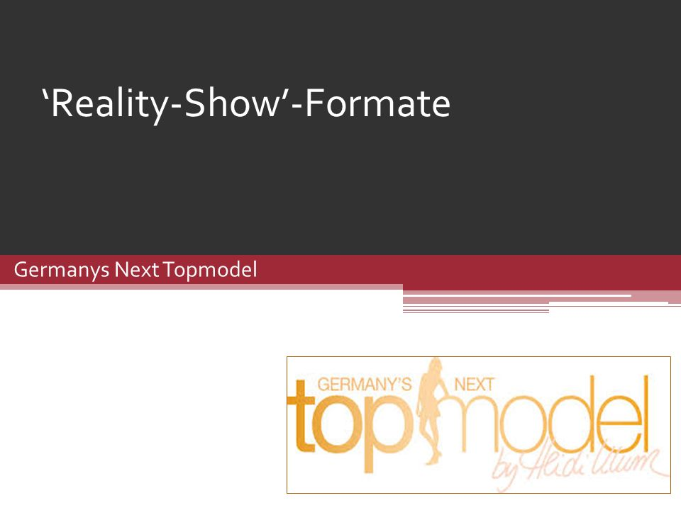 'Reality-Show'-Formate