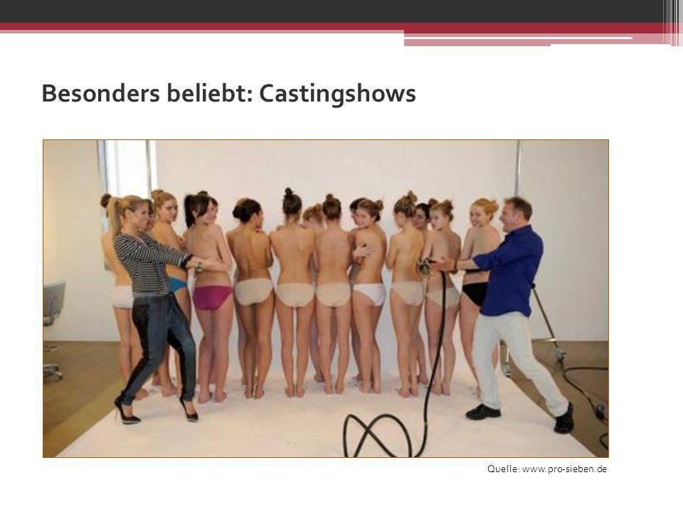 Besonders beliebt: Castingshows