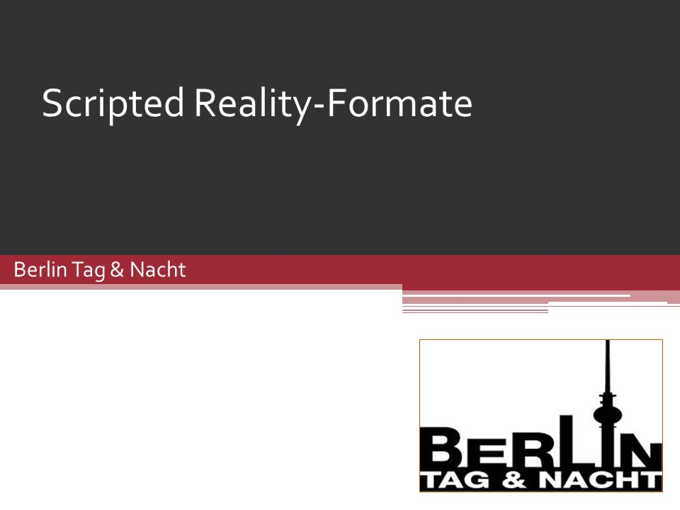 Scripted Reality-Formate