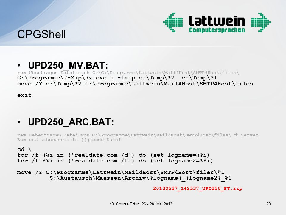 CPGShell UPD250_MV.BAT: UPD250_ARC.BAT:
