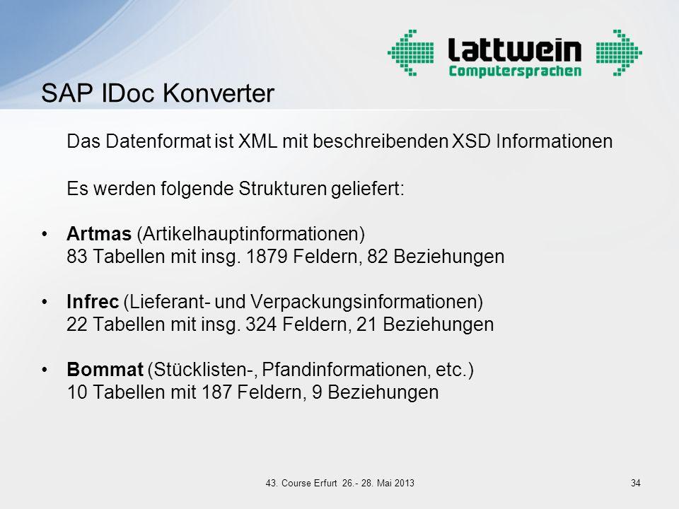 Das Datenformat ist XML mit beschreibenden XSD Informationen
