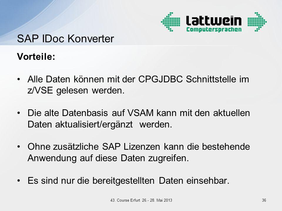 SAP IDoc Konverter Vorteile: