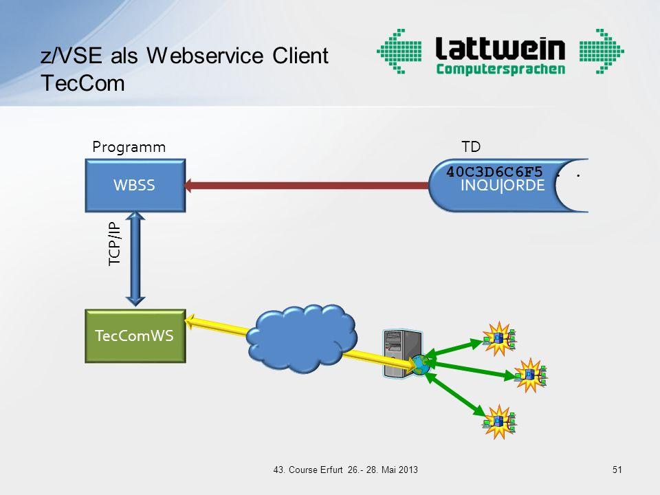 z/VSE als Webservice Client TecCom