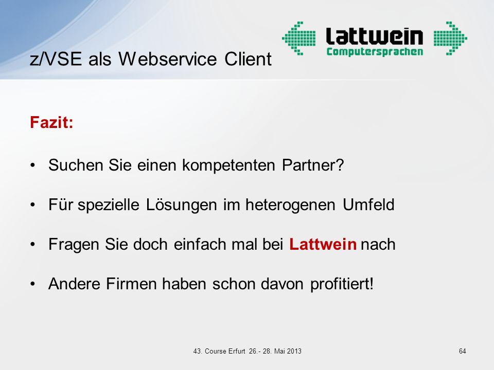 z/VSE als Webservice Client