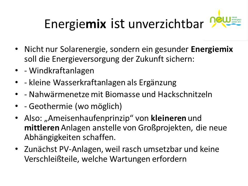 Energiemix ist unverzichtbar
