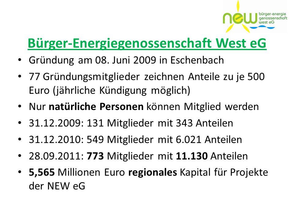 Bürger-Energiegenossenschaft West eG
