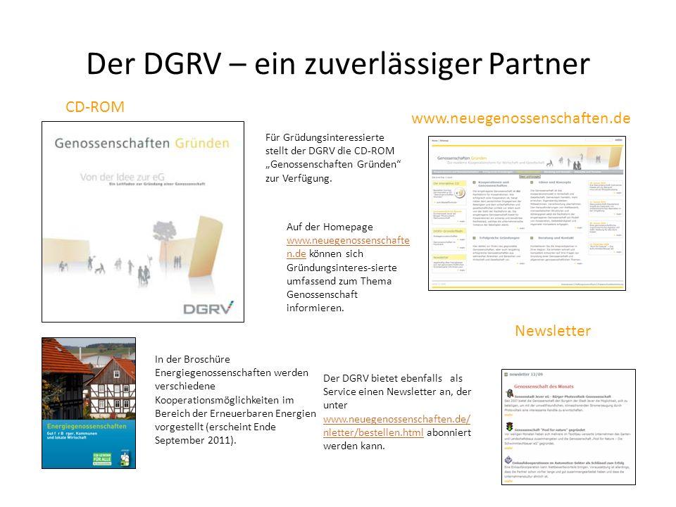 Der DGRV – ein zuverlässiger Partner