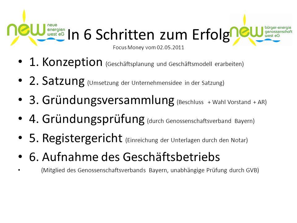 In 6 Schritten zum Erfolg Focus Money vom 02.05.2011