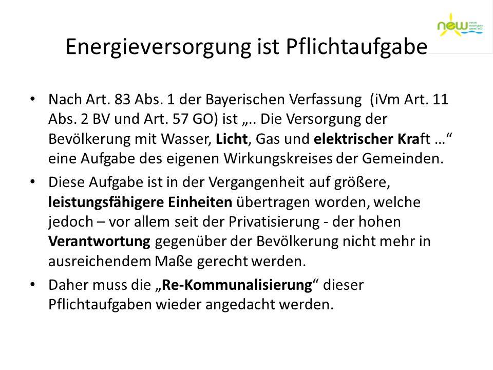 Energieversorgung ist Pflichtaufgabe