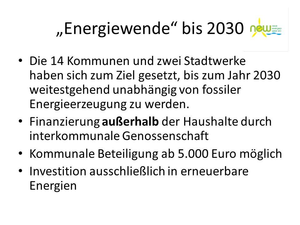 """""""Energiewende bis 2030"""