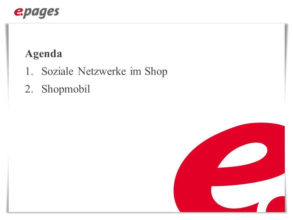 Agenda Soziale Netzwerke im Shop Shopmobil