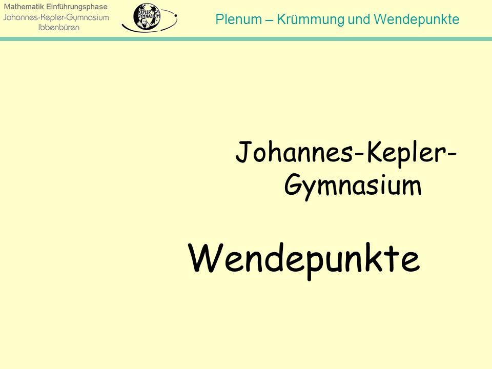 Wendepunkte Johannes-Kepler- Gymnasium Hinweis für den Lehrer: