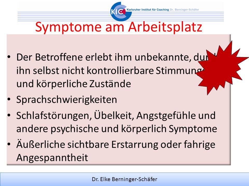 Symptome am Arbeitsplatz