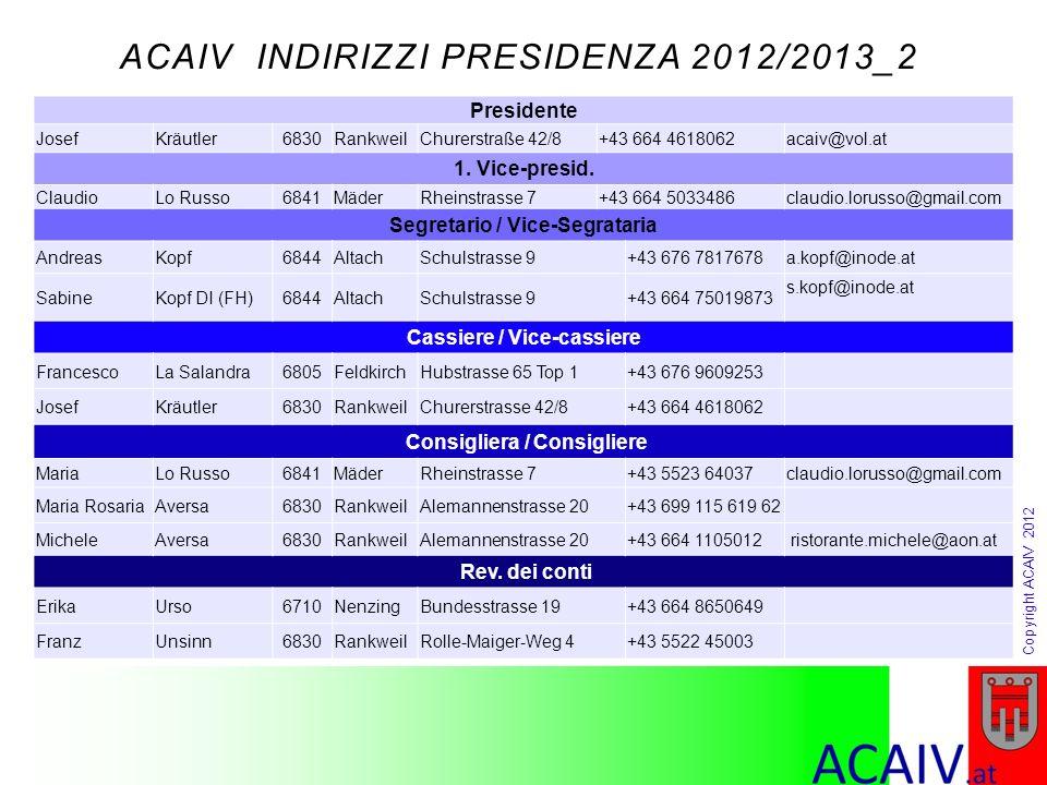 ACAIV INDIRIZZI PRESIDENZA 2012/2013_2