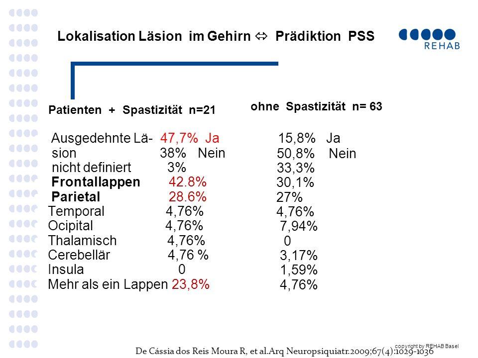 Lokalisation Läsion im Gehirn  Prädiktion PSS