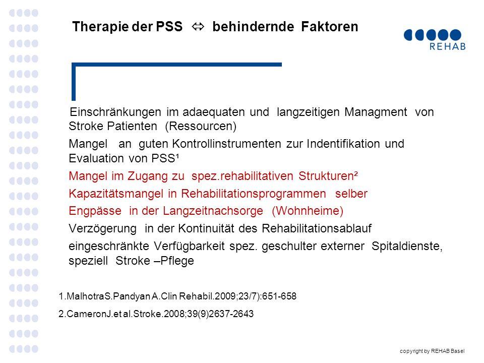 Therapie der PSS  behindernde Faktoren