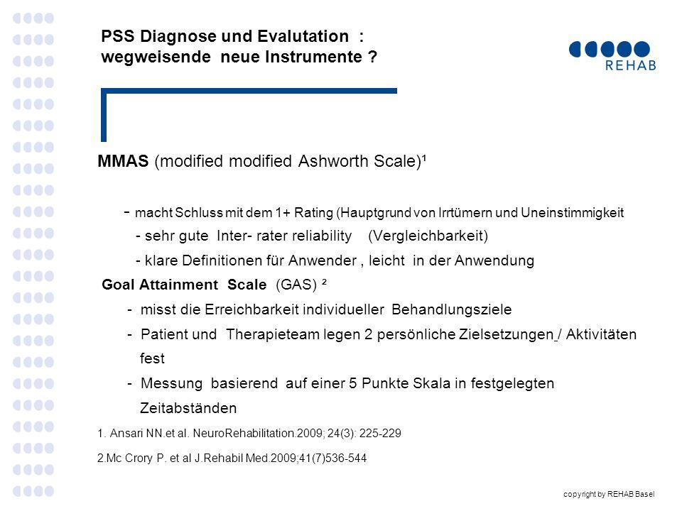 PSS Diagnose und Evalutation : wegweisende neue Instrumente