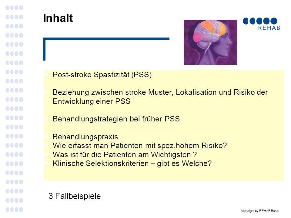 Inhalt 3 Fallbeispiele Post-stroke Spastizität (PSS)