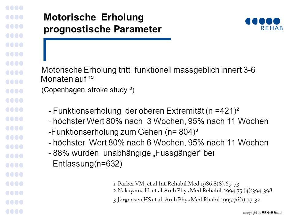 Motorische Erholung prognostische Parameter