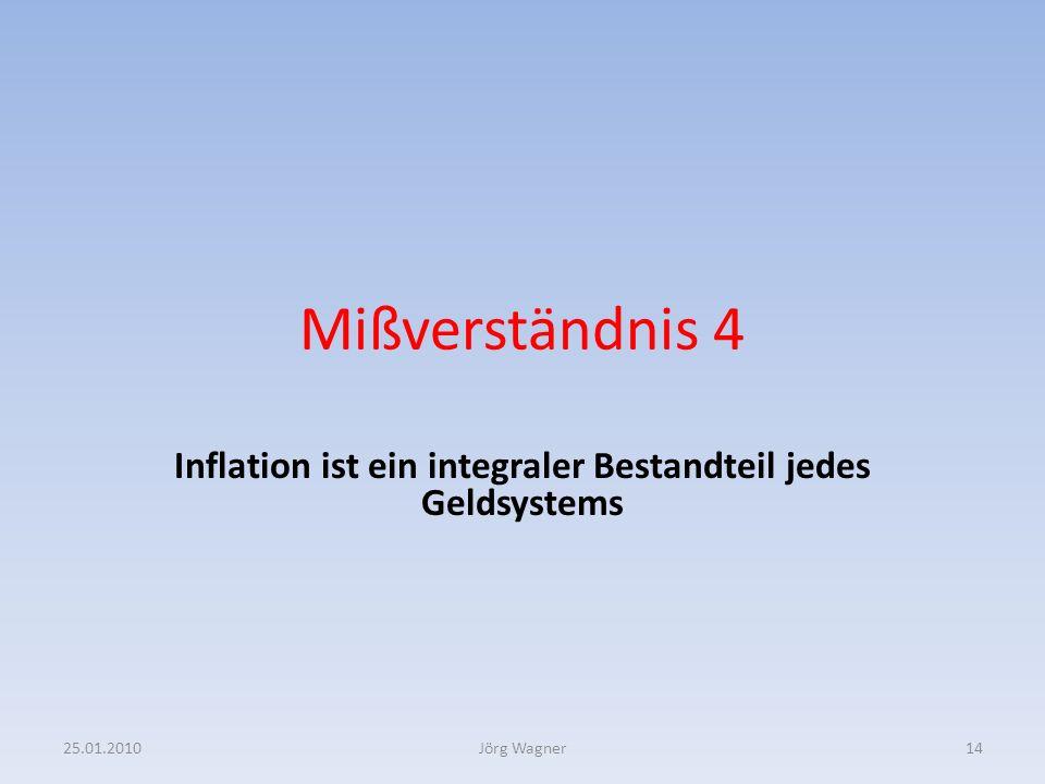 Inflation ist ein integraler Bestandteil jedes Geldsystems