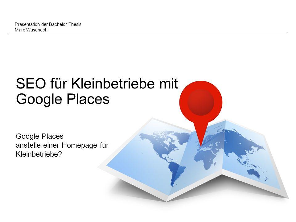 SEO für Kleinbetriebe mit Google Places