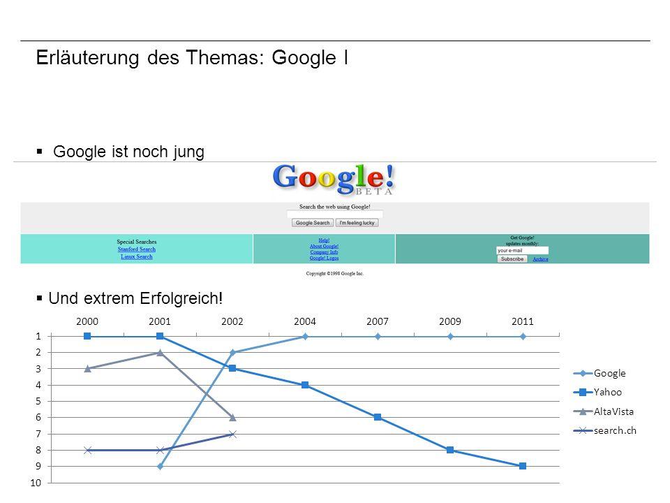 Erläuterung des Themas: Google I
