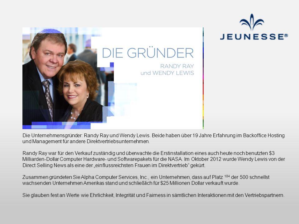 Die Unternehmensgründer: Randy Ray und Wendy Lewis