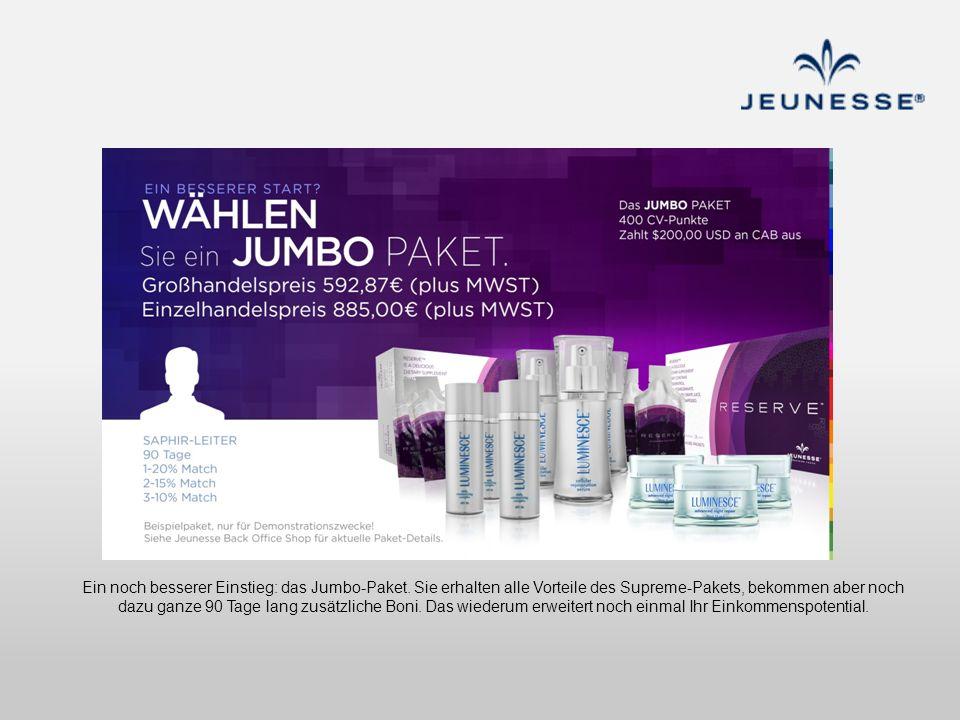 Ein noch besserer Einstieg: das Jumbo-Paket