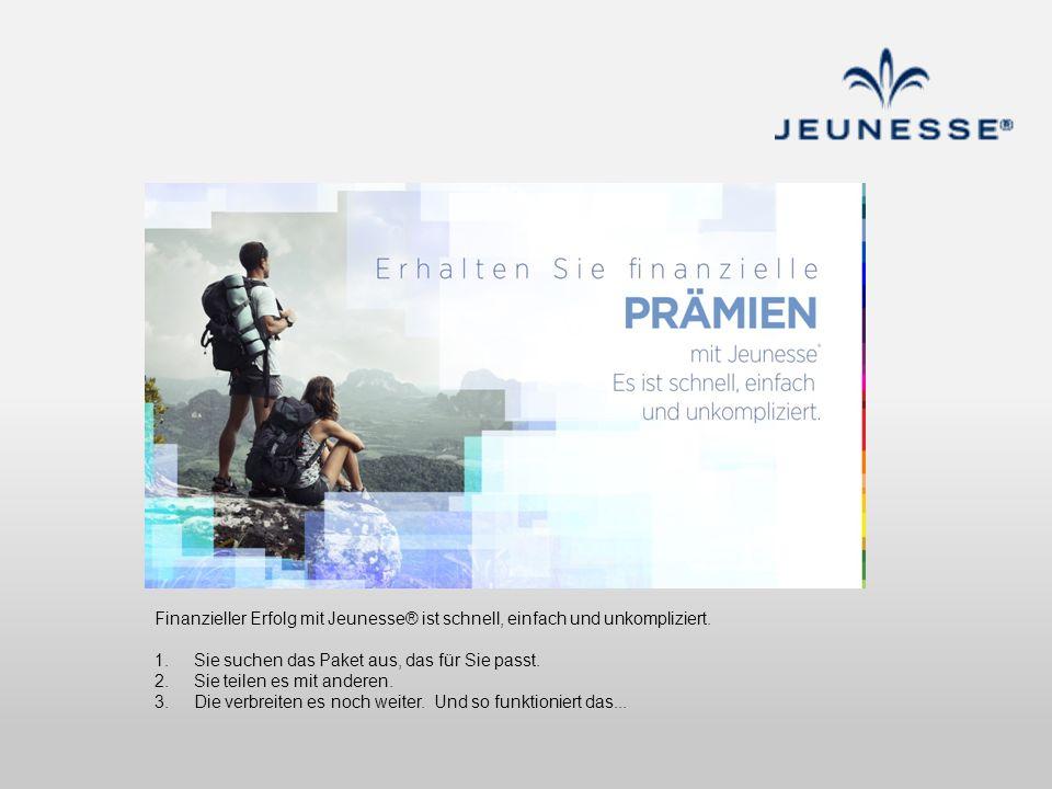 Finanzieller Erfolg mit Jeunesse® ist schnell, einfach und unkompliziert.