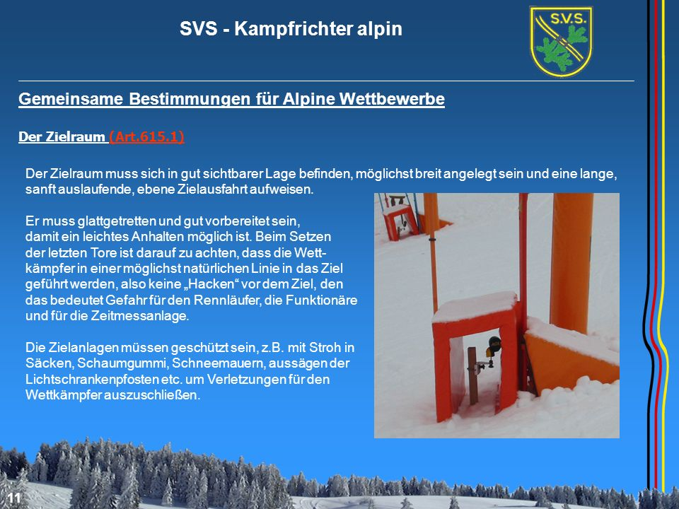 Gemeinsame Bestimmungen für Alpine Wettbewerbe