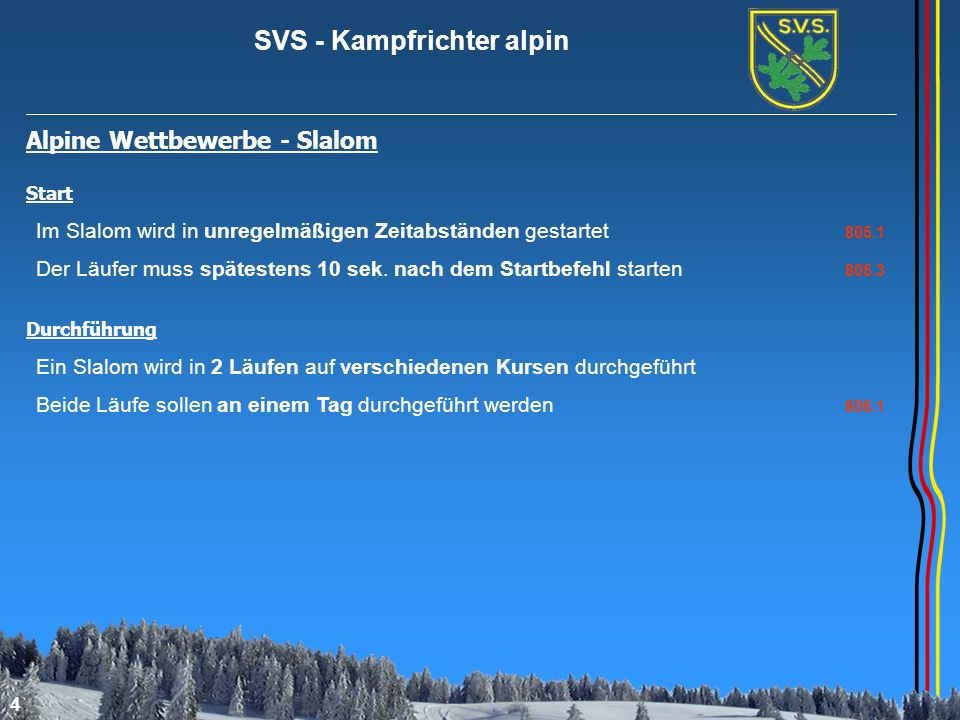 Alpine Wettbewerbe - Slalom