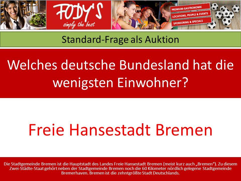 Standard-Frage als Auktion